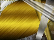 Metal abstract background. Beautiful illustration of metallic abstract background in grey and yellow tones Stock Image