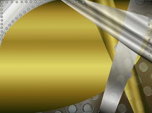 Metal abstract background. Beautiful illustration of metallic abstract background in grey and yellow tones Royalty Free Stock Photos