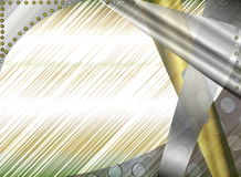 Metal abstract background. Beautiful illustration of metallic abstract background in grey and yellow tones Stock Photos