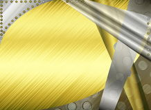 Metal abstract background. Beautiful illustration of metallic abstract background in grey and yellow tones Stock Photography