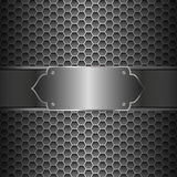 Metal Abstract Background. Black metal surface square perforated abstract background, vector Illustration Royalty Free Stock Image