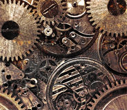 Metal abstract background with mechanism. Stock Image