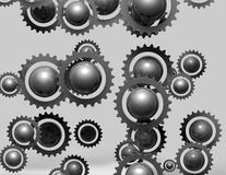 Metal abstract gears cogs background Royalty Free Stock Image