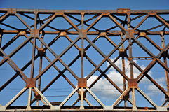 Metal abstracts of bridge Stock Photos