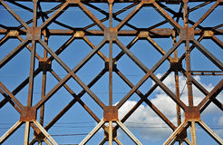 Metal abstracts of bridge Royalty Free Stock Photography