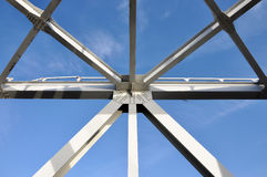 Metal abstracts of bridges Royalty Free Stock Image