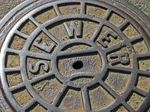 Metal Abwasserkanaleinsteigeloch, Industriesonderkommandos, Lizenzfreies Stockfoto