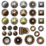 Metal accessories collection Stock Image