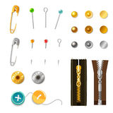 Metal Accessories Set Stock Photos