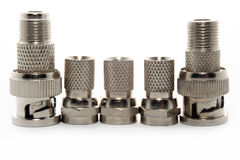 Metal adapters Stock Photography
