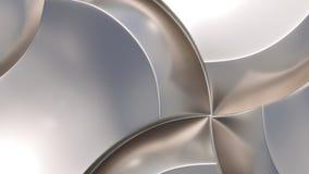Metal afiado curvy fotografia de stock