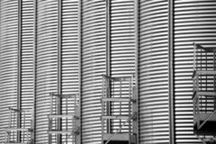 Metal agriculture tower in a dynamic composition stock photos