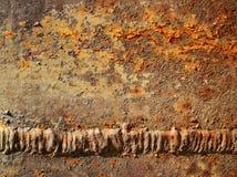 Metal aherrumbrado texturizado Foto de archivo libre de regalías
