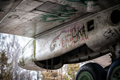 Metal aircraft Royalty Free Stock Image