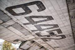 Metal aircraft Stock Image