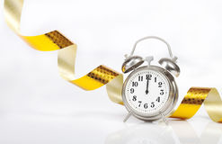 Metal alarm clock Royalty Free Stock Image