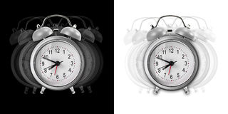 Metal alarm clock Stock Photo
