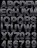 Metal alphabet Royalty Free Stock Images