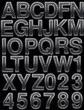 Metal alphabet Royalty Free Stock Images