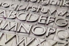 Metal alphabet abstract Stock Image
