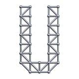 Metal alphabet letter U Stock Photos