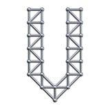 Metal alphabet letter V Royalty Free Stock Photo