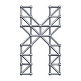 Metal alphabet letter X Royalty Free Stock Images
