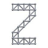 Metal alphabet letter Z Royalty Free Stock Photo