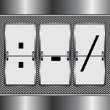 Metal alphabet of mechanical  Puc. Vector illustration vector illustration