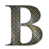 Metal alphabet symbol - B Royalty Free Stock Images