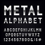 Metal Alphabet Vector Font. Stock Photo