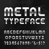 Metal Alphabet Vector Font. Royalty Free Stock Photos