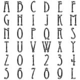Metal  alphabet on white background Royalty Free Stock Photo