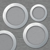 Metal, aluminium frames with place for your text. Metal, aluminium circle frames with place for your text vector illustration
