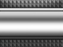 Metal aluminium plate background Stock Image