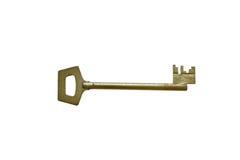 Metal amarelo chave velho Foto de Stock