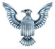 Metal American Eagle Shield Stock Image