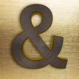 Metal & ampersand do ouro Fotografia de Stock Royalty Free
