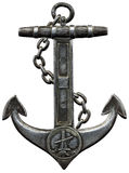 Metal anchor isolated against a white background. Perfect  for sailing theme designs Royalty Free Stock Image