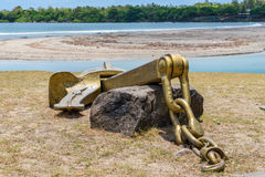 Metal anchor monument Royalty Free Stock Image