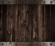 Metal And Wooden Medieval Background Stock Photography