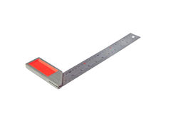 Metal angle ruler isolated Stock Photos