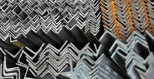 Metal angles. Equal angles from S235 grade, using for construction Stock Images