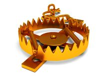 Metal animal trap  on white Royalty Free Stock Photos