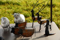 The metal animals. Of handicraft Royalty Free Stock Images