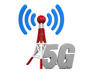 Metal Antenna 5G Network Royalty Free Stock Photos