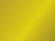 Metal anti slip gold. Golden metal background with anti slip surface pattern Royalty Free Stock Images