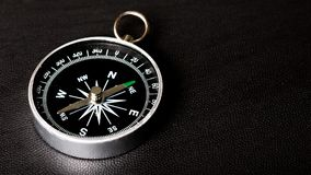 Metal antique compass on background. Metal antique compass background object decorative equipment Stock Photos