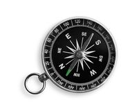 Metal antique compass on white background. Metal antique compass background object decorative equipment Royalty Free Stock Image