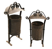 Metal Antique Trash Bin Royalty Free Stock Image